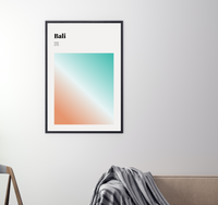 Bali // Minimalist Art Print // Abstract Travel Poster