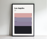 Los Angeles | Sunset | Premium Poster | City Swatches