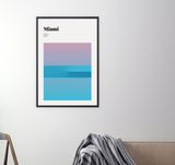Miami // Minimalist Art Print // Abstract Travel Poster
