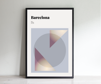 Barcelona // Minimalist Art Print // Abstract Travel Poster