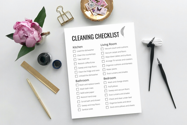 Mid-Century Modern Cleaning Checklist