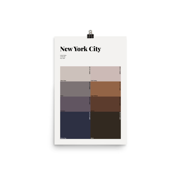New York City | Night & Day | Premium Poster | City Swatches