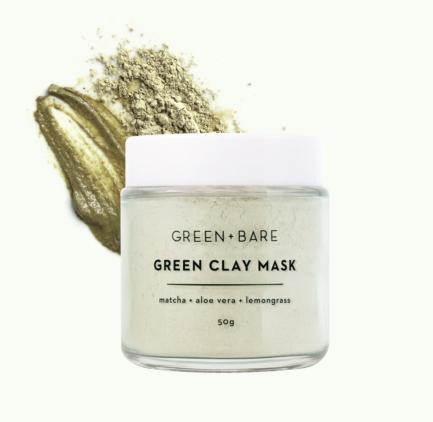 green and bare green clay face mask