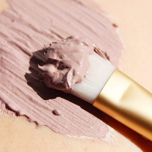 purple clay mask texture