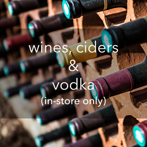 wines, ciders & vodka