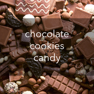 chocolate, cookies & candy