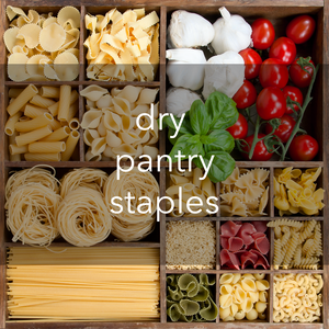dry pantry staples