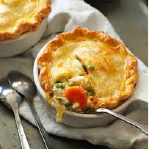 Free Range Chicken Pot Pie - 4 Mini's (frozen, only available as Click & Collect or In-Store)