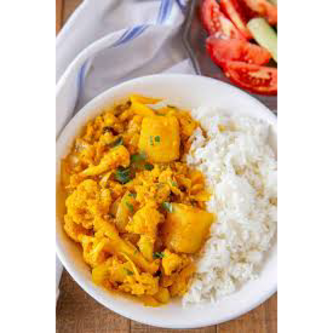 Aloo Gobi & Rice (frozen, only available as Click & Collect or In-Store)