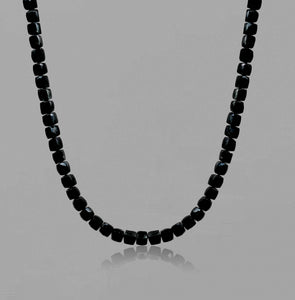 Cubed  Onyx and Black Spinel Necklace