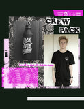 1. Crew Pack #4 - S/S Tee + Water Bottle + 2 Patches + Sticker pack