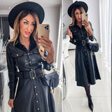 Leather Shirts Dress