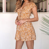 Casual Print Floral Dress