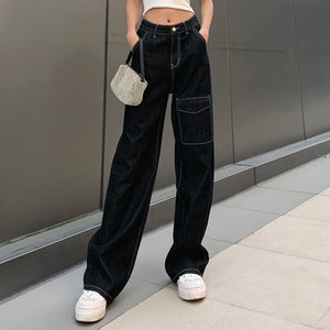 High Waisted Punk Jeans