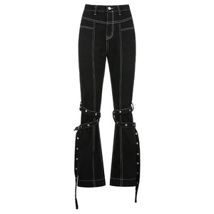 Open image in slideshow, Black High Waist Jeans