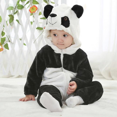 HOT Infant Romper Baby Boys Girls Jumpsuit New born Bebe Clothing Hooded Toddler Baby Clothes Cute Panda Romper Baby Costumes