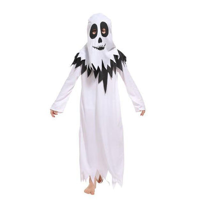 Halloween Family Matching Kids Adult White Hooded Robe Ghost Costume Boys Men Carnival Party Fancy Cosplay Clothes