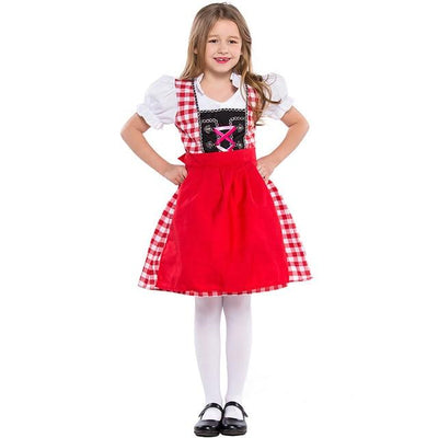 Bavarian Women Oktoberfest Costumes Kids Beer Waiter Cosplay German Beer Wench Girl Fancy Dress for Mother Daughter