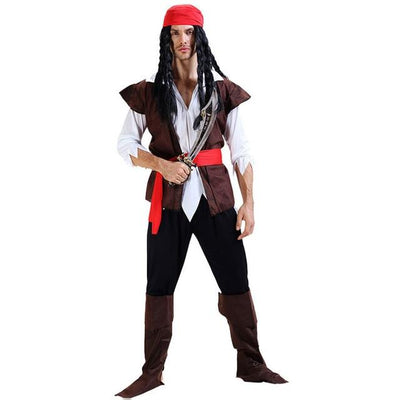 Halloween Carnival Party Costume Captain Pirate Costumes Adult Fancy Cosplay Dress for Women Men Couples