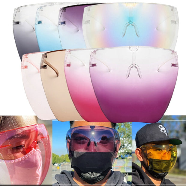 Men's Women's Faceshield Glasses