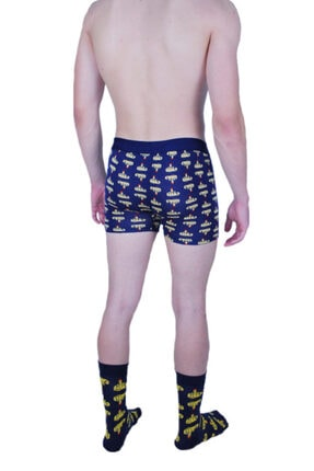 Cotboxer Men's Navy Blue Boxer Socks Set 1503