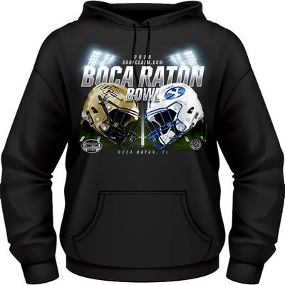UCF Knights vs BYU Cougars 2020 Boca Raton Bowl Game Hoodie