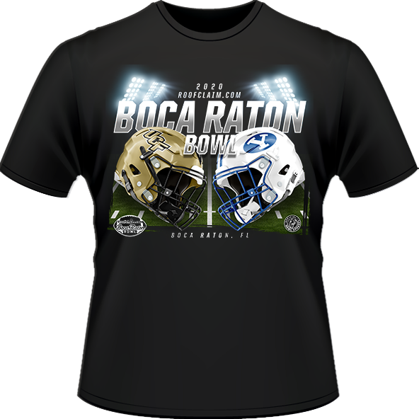 UCF Knights vs BYU Cougars 2020 Boca Raton Bowl Game T-Shirt