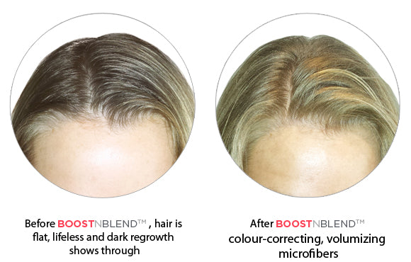 Boost N Blend Hair Thickening Products Before and After Treatment