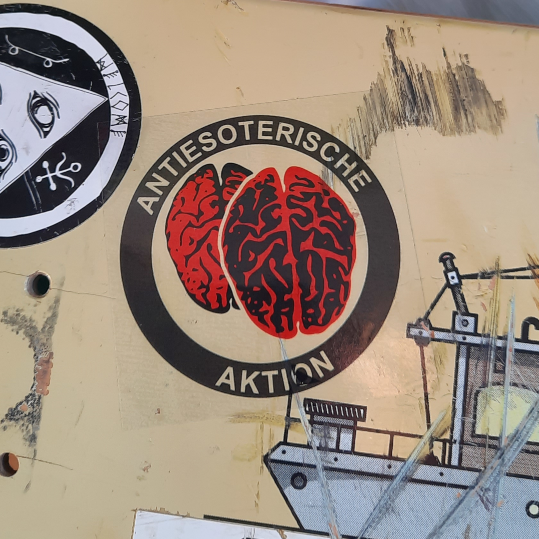 Sticker Antiesoterische Aktion (transparent)
