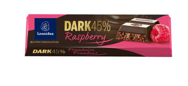 Barra 50G  - DARK 45% COCOA RASPBERRIES