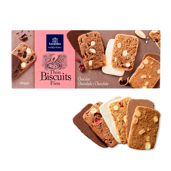 3 chocolate flavours biscuits