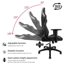 Load image into Gallery viewer, Furgle Office Chair Swivel Gaming Chair Computer Chair with High Back Game Chairs PU Leather Seat for Office Chair Furniture