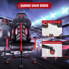 Load image into Gallery viewer, Furgle Office Chair Memory Foam Gaming Chair Adjustable Tilt Angle and 4D Armrest Ergonomic High-Back Leather Computer Chairs