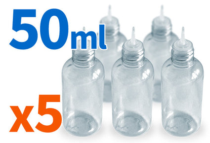 5 pack of 50ml dropper bottles