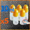 5 pack of 10ml dropper bottles