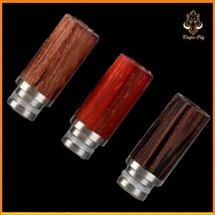 510 Wood + Stainless Steel drip tip n.1