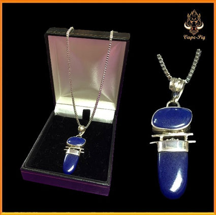 .925 STERLING SILVER AND LAPIS LAZULI PENDANT