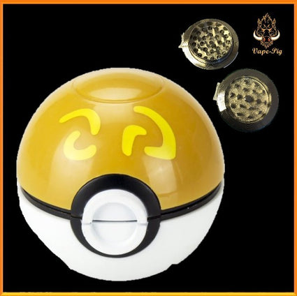 POKEMON GRINDER WHITE-BROWN