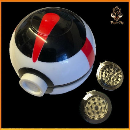 POKEMON GRINDER WHITE-RED-BLACK