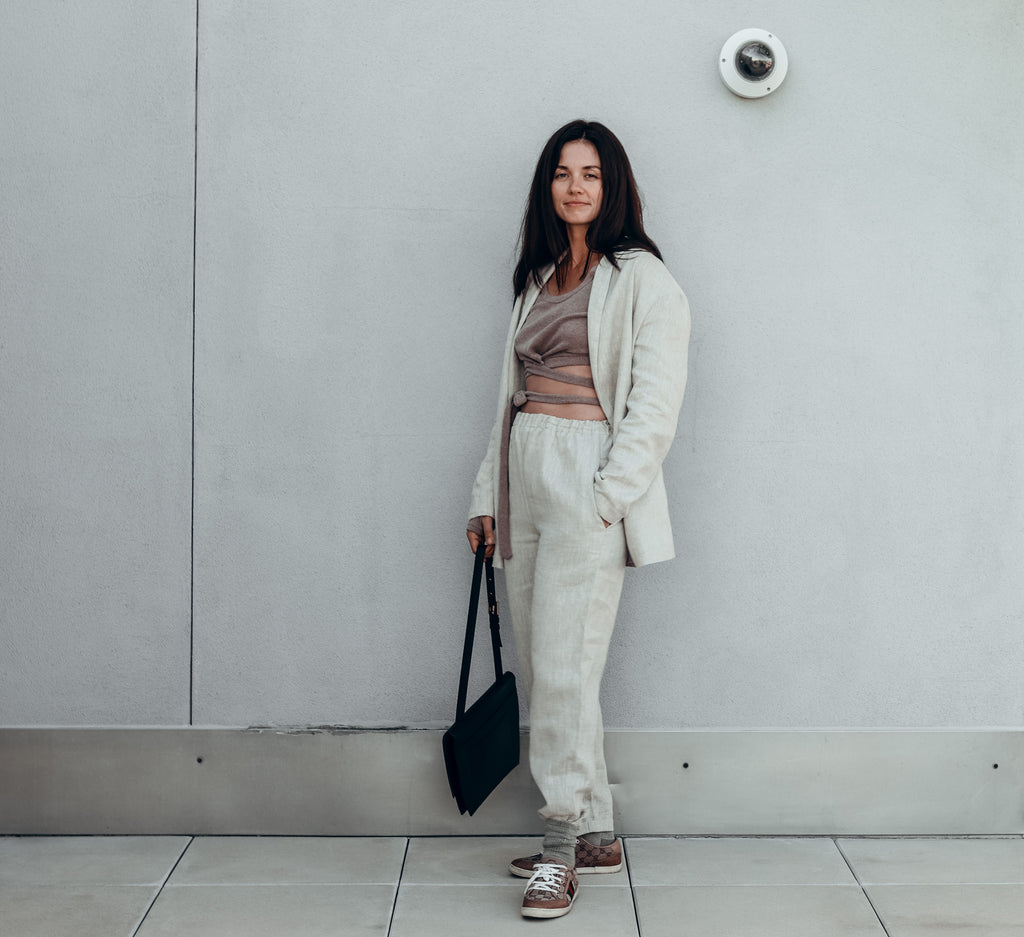 How to wear linen in the cold season 1
