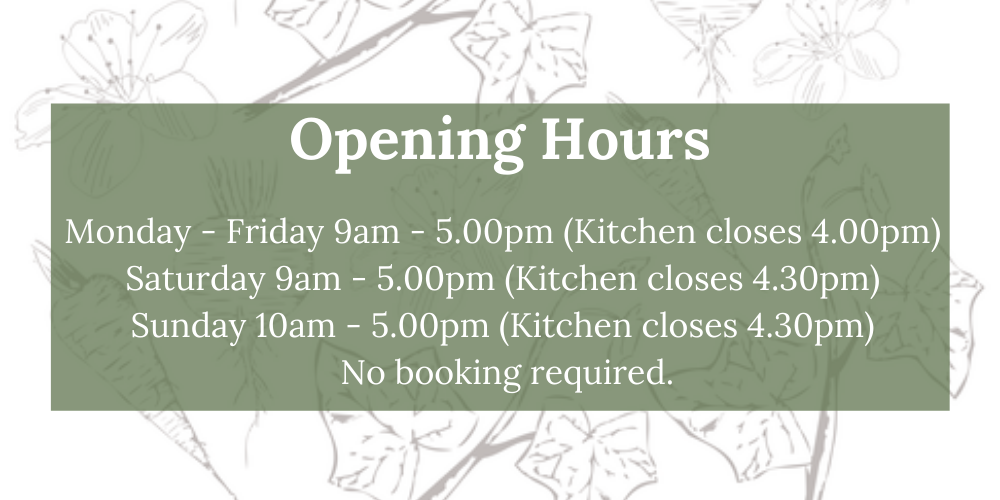 The Gardening House Cafe Opening Hours