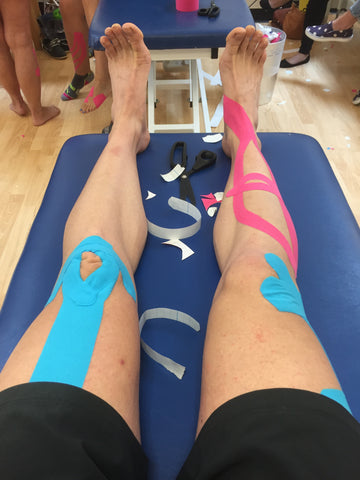 SPORTTAPE ACADEMY - Ieuan's legs Fully Taped Up!