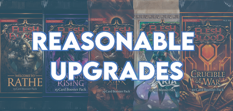 reasonable upgrades budget blitz deck tech guide for beginners flesh and blood fab first edition