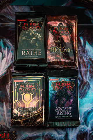 unlimited booster flesh and blood fab crucible of war, tales of aria, monarch, arcane rising and welcome to rathe