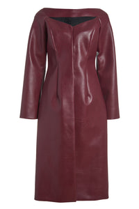 Kimberly Vegan Leather Structured Trench Coat - Pre-Order