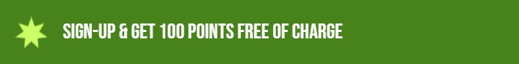 Sign up and get 100 points free of charge