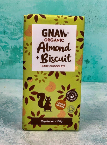 Organic Dark Choc with Almonds & Biscuits