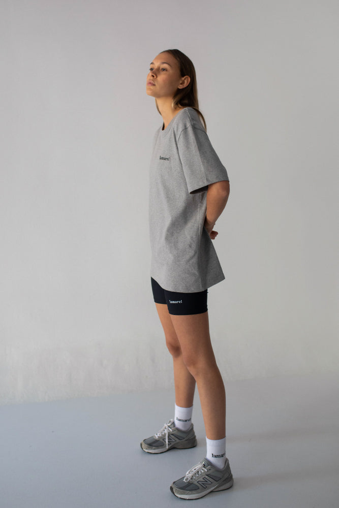 GRAY T-SHIRT OVERSIZED LOGO