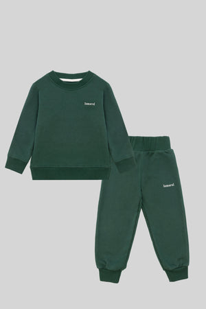 GREEN BABY SET WITH SWEATER