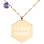 Load image for gallery viewI ❤ DADDY Necklace - Hexagon